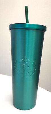 New Starbucks Stainless Steel Cold Cup TURQUOISE  (Venti 24 oz.)
