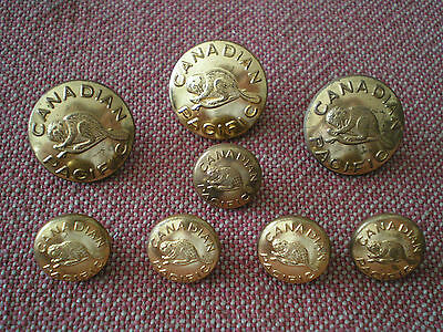 Group of Vintage Canadian Pacific Railway Buttons by Scully