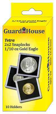 Guardhouse - 2x2 1/10 oz AGE (16.5mm) Tetra Snaplock, Coin Holders, 10 per box