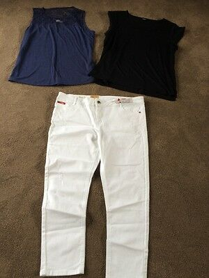 Brand New Lee Cooper White Ladies Jeans & 2 Tops Jeanswest L & XL