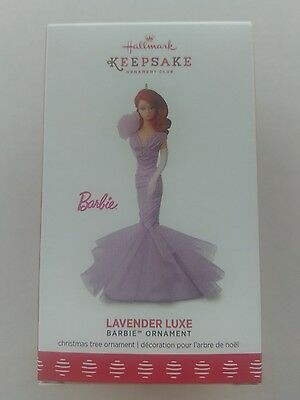 Hallmark 2017 Lavender Luxe Member Exclusive Barbie Ornament