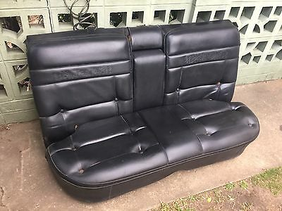 Hk Ht Hg Holden Black Rear Seat Premier Brougham Kingswood Bucket Bench