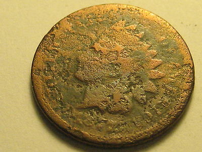 1877 Indian Head Cent Corroded