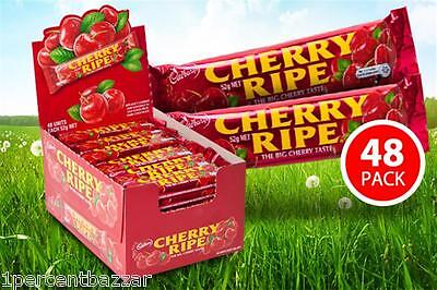 144 x 52g  Cadbury Cherry Ripe Milk Chocolate Medium Bars - 7.5Kg Total