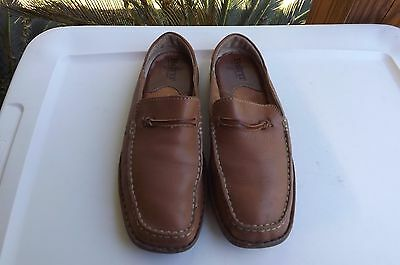 Born Women's Shoes Oxford Mules Loafers Brown Leather Slip On Size 7