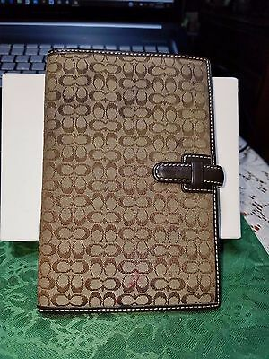 Coach Brown Signature Agenda  Planner Organizer With Address Book