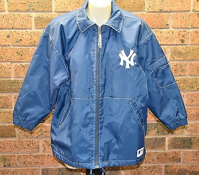 MAJOR LEAGUE BASEBALL New York Baseball Jacket - Size M (Youth) - VGUC