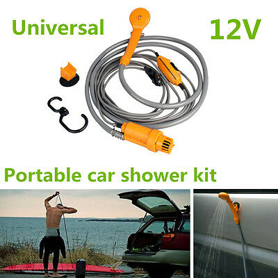 Portable 12VDC 35W Electric Car Outdoor Camper Caravan Camping Travel Shower Kit