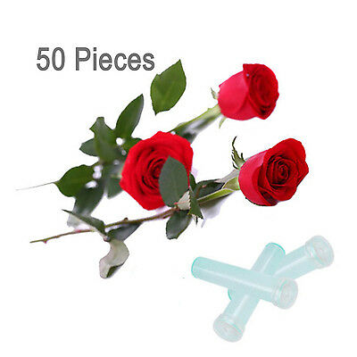 "50Pcs 1.5""/3"" Green Clear Floral Water Standard Tubes Vials Planter With Caps"
