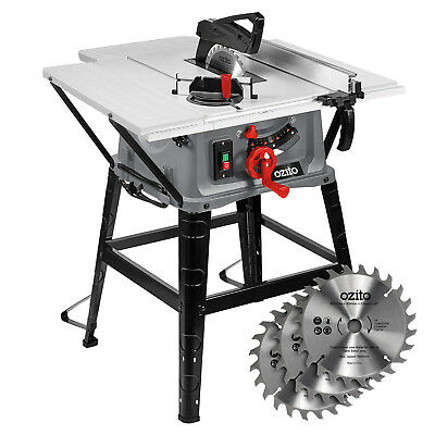 Ozito 254mm Table Saw Dust Extraction Large 2000W Motor Safety Guard - 3YR WTY