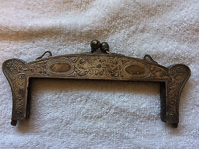 Antique German Silver Purse Clossure German Silver EP Purse Hardware