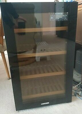 Vintec Wine Cabinet  V30SGMEBK 35 Bottle Single Zone Black Noir Glass