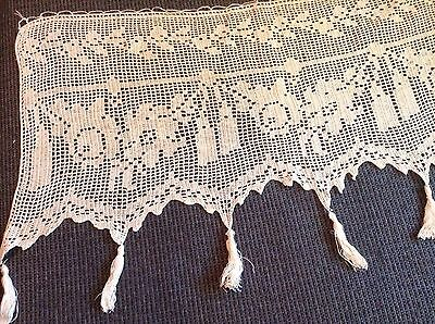 Vintage Crocheted Runner with Tassels