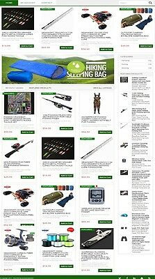 HUNTING, FISHING & CAMPING WEBSITE FOR SALE! with PRODUCTS & DROPSHIPPING SOURCE