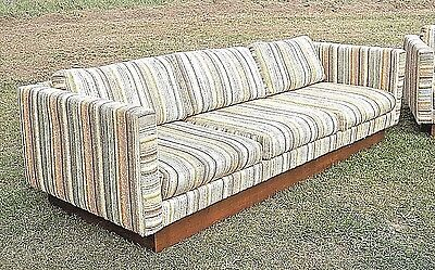 """Mid Century Modern Milo Baughman 3 Cushion Square End Floating Sofa By """"selig"""""""