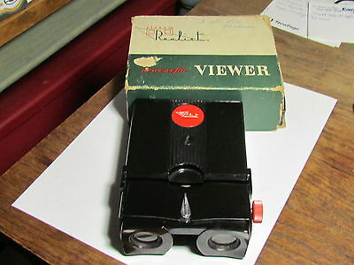 Vintage Stereo Realist Stereoscopic Viewer Model St 61 Red Button