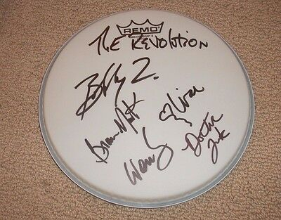 """The Revolution - Autographed 10"""" Drumhead - Prince's Band *signed* Amazing"""