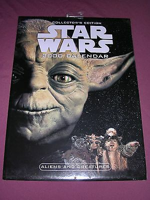 Star Wars 2000 Calendar Still Sealed
