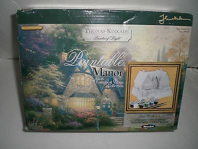 Thomas Kinkade Painter Of Light Paintable Manor From Lamppost Village Collection