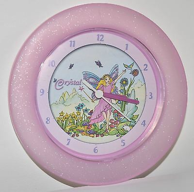 CRYSTAL Fairy Wall Clock (Diameter 21cm) - EUC