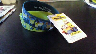 Lot Of 2 Minions Movie Bracelet Rubber Wrist Bands ~ Officially Licensed Qty. 2