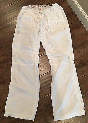 KOI by KATHY PETERSON Women's #701T Size L Large TALL White LINDSEY SCRUB PANTS
