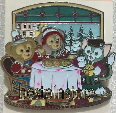 Disney pin - HKDL Winter - Duffy ShellieMay & Gelatoni