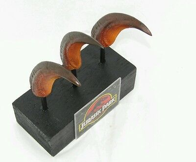 Jurassic Park Velociraptor Hand Claws Prop 'cast From Original'