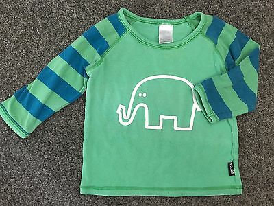 Size 00 ~ BONDS ~ Green / Blue Vintage 'Elephant' Stretchies Long Sleeved Top
