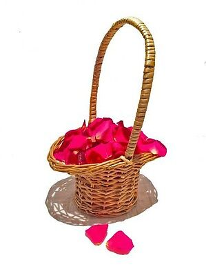 Round Flower Girl Basket - Natural