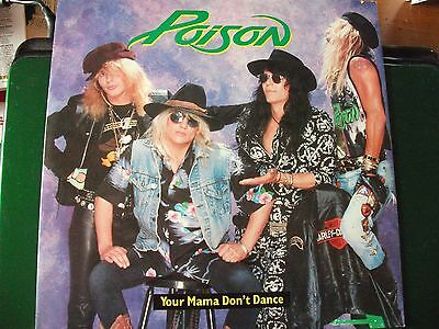"""Poison-Your Mama Don't Dance 12"""" Single 1988"""