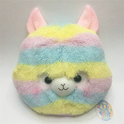 Alpacasso Amuse Rainbow Striped Llama Cushion Plush Stuffed 16' Arpakasso Alpaca