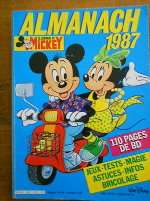 Mickey -Almanach 1987 - Le Journal De Mickey -