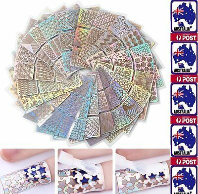 Nail Art Vinyl Stencil Guide Sticker Manicure 3D Form Stickers Hollow Nail Decal