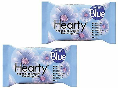 PADICO Hearty Clay Color Super Light weight Modeling Clay 50 g  2 Pieces Blue