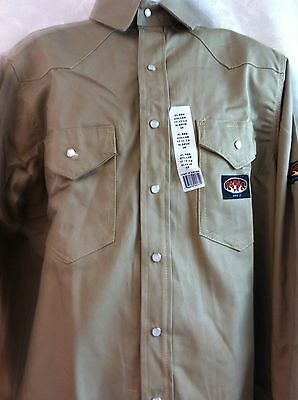 Rasco FR Khaki Lightwieght Work Shirt NWT