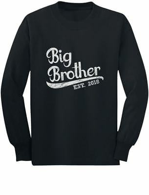 Gift for Big Brother 2018 Youth Kids Long Sleeve T-Shirt Boys