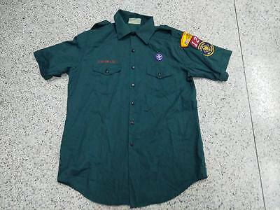 "Used US Venturing BSA  Boy Scouts Uniform shirts ADULT MENs Sz-LG 48"" #22"