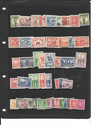 Stamps Aust Predecimal   Collection  1930-66 Mainly  Fine Used  200+