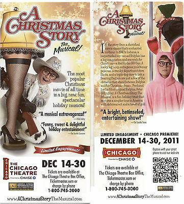 A Christmas Story The Musical Chicago Advertising Flyer