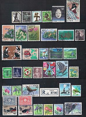 JAPAN - Mixed Lot of 35 Stamps most Good Used, LH