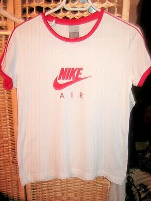 Taille Nike Taille L - Com Neuf - Blanc Bord Rouge Nike Air - Pensez Offre Prix