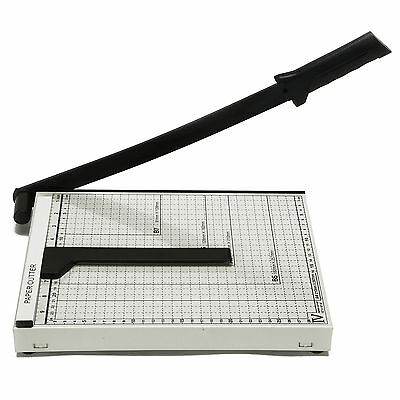 10'' x 12'' Paper Cutter Metal Base Industrial Commercial Trimmer Heavy Duty New