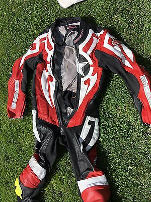 Hein Garicke 1 Piece Leather Motorcycle Motorbike Suit Size Small Mens