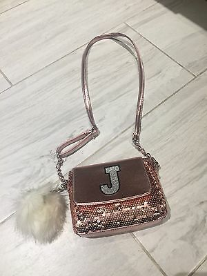 Nwt Justice Bag Letter J Trendy Dressy Sparkly  Tote Purse