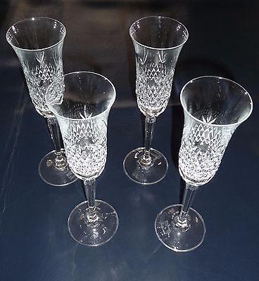 Champagne Glasses Fluted Vintage Bryn Mawr Mikasa TS105 Lead Crystal. Set of 4