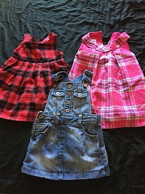 3 X Next Girls Dresses Age 12-18 Months