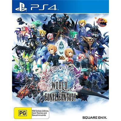 Sony PlayStation 4 PS4 GAME World of Final Fantasy BRAND NEW SEALED FREE POSTAGE