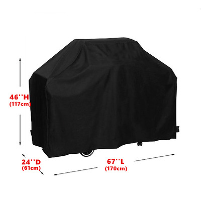67'' 170cm BBQ Grill Cover Gas Barbecue Heavy Duty Waterproof Outdoor Weber