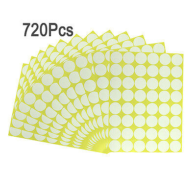 "720Pcs 1"" White Round Code Dot Blank Stickers Adhesive Sticky Labels Home Decor"